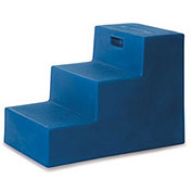 "High Country Plastics 3 Step Mounting Step, Blue 22-1/2""H - MS-22B"