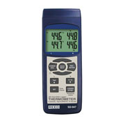 Reed Instruments SD-947 Thermometer Thermocouple 4-Channel Data Logger