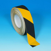 "Heskins Hazard Safety Grip™ Anti Slip Tape, Black/Yellow, 2"" x 60', 60 Grit"
