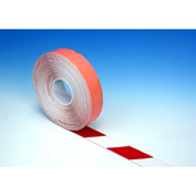 "Heskins PermaStripe® Heavy Duty Floor Marking Tape, Red/White, 2"" x 98'"