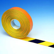 "Heskins PermaStripe® Heavy Duty Floor Marking Tape, Black/Yellow, 2"" x 98'"