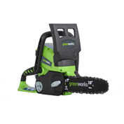 "GreenWorks® 20182 Enhanced 10"" Chainsaw, 24V, 2aH Battery & Charger"