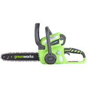 "GreenWorks® 20262 G-MAX 12"" Cordless Chainsaw, 40V, 2aH w/ Li-Ion Battery & Charger"