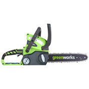 "GreenWorks® 20292 G-MAX 12"" Cordless Chainsaw, 40V, 2aH"