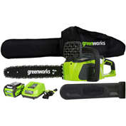"GreenWorks® 20312 G-MAX 16"" Cordless Digipro Chainsaw, 40V, 4aH w/ Li-Ion Battery & Charger"