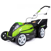 "GreenWorks™ 25223 G-MAX Cordless 19"" 40V Lawn Mower Kit, W/ 2Ah Battery & Charger"