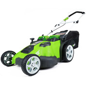 "GreenWorks™ 25302 G-MAX Twin Force Cordless 20"" 40V Lawn Mower Kit, W/ Battery & Charger"