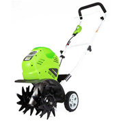 "GreenWorks® 27062G-MAX Cordless 10"" Cultivator, 40V w/ Battery & Charger"