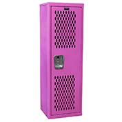 "Hallowell HTL151548-1BG Ventilated Home Team Locker Unassembled 15""W x 15""D x 48""H - Bubble Gum"