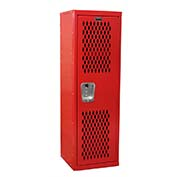 "Hallowell HTL151548-1RR Ventilated Home Team Locker Unassembled 15""W x 15""D x 48""H - Relay Red"