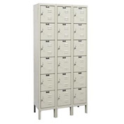 Hallowell U3288-6G-PT Knock-Down Corrosion Resistant Locker Six Tier 3 Wide - 12x18x13