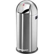 Hailo KickMaxx® 50 Waste Receptacle, 13 Gallon Anti Fingerprint Stainless Steel - 0850-169