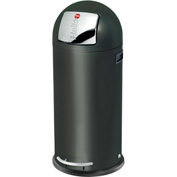 Hailo KickMaxx® 50 Waste Receptacle, 13 Gallon Black - 0850-569
