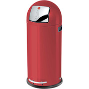 Hailo KickMaxx® 50 Waste Receptacle, 13 Gallon Red - 0850-579