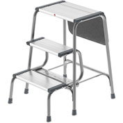 Hailo Retro 2-In-1 Step Stool/Ladder Gray/Black - 4353-001
