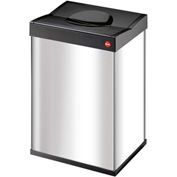 Hailo Big Box® 40 Square Waste Receptacle, 10 Gallon Stainless Steel - 0840-111