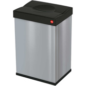 Hailo Big Box® 40 Square Waste Receptacle, 10 Gallon Silver - 0840-121
