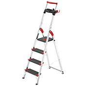 Hailo Championsline 4 Step Aluminum Safety Ladder - 8894-281