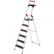 Hailo Championsline 6 Step Aluminum Safety Ladder - 8896-281