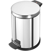 Halio ProfiLine 14 inch Stainless Steel Round Step Can with Galvanized Inner Bin - 0514-019