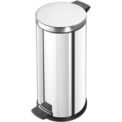 Halio ProfiLine 20 inch  Stainless Steel Round Step Can with Galvanized Inner Bin - 0522-010