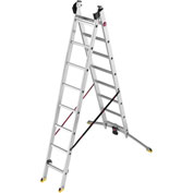 Hailo Profiline Duo Aluminum/Plastic 8 Rung Combination Ladder - 9408-281