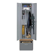Hallowell HERL442-1B-G-HG Emergency Response All-Welded TaskForce XP Equipment Locker w/ Drawer Base
