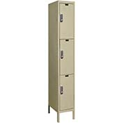 Hallowell UEL1228-3A-PT Assembled Electronic Access Locker Triple Tier 1 Wide - 12x12x26