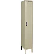 Hallowell UEL1258-1A-PT Assembled Electronic Access Locker Single Tier 1 Wide - 12x15x78