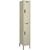Hallowell UEL1258-2A-PT Assembled Electronic Access Locker Double Tier 1 Wide - 12x15x39