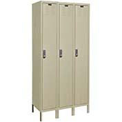Hallowell UEL3228-1A-PT Assembled Electronic Access Locker Single Tier 3 Wide - 12x12x78