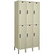 Hallowell UEL3258-2PT Knock-Down Electronic Access Locker Double Tier 3 Wide - 12x15x39