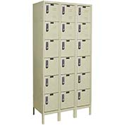 Hallowell UEL3258-6PT Knock-Down Electronic Access Locker Six Tier 3 Wide - 12x15x13