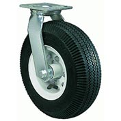 """Hamilton® Pneumatic Cold Forged Swivel 10"""" Pneumatic Roller 480 Lb. Caster"""
