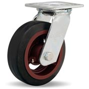 Hamilton® Standard Cold Forged Swivel 6 x 2 Mold-On Rubber Roller 410 Lb. Caster