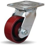 Hamilton® Whirlaway Cold Forged Swivel 4 x 1-1/2 Metal Roller 550 Lb. Caster