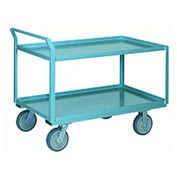 Steel Shelf Truck 24x36 Pneumatic Wheels 1000 lbs