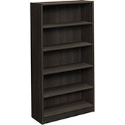 "basyx® by HON® BL Series 32""W Laminate Bookcase with 5 Shelves Espresso Finish"