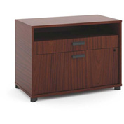 "basyx® by HON® Storage Cabinet with File - 30""W - Chestnut  - Manage Series"