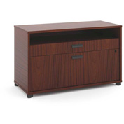 "basyx® by HON® Manage File Center 1 Shelf / 2 Drawers 36""W Chestnut Finish"