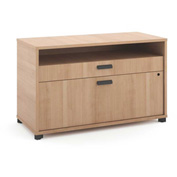 "basyx® by HON® Manage File Center 1 Shelf / 2 Drawers 36""W Wheat Finish"