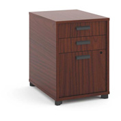 "basyx® by HON® Manage Pedestal File 3 Drawers 22""D Chestnut Finish"