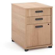 "basyx® by HON® Manage Pedestal File 3 Drawers 22""D Wheat Finish"