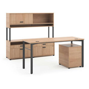 basyx® by HON® Manage Executive Workstation Desk 2 File Centers Wheat