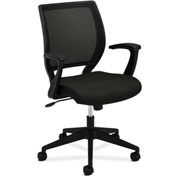 basyx® by HON® Manager's Chair with Mesh Back - Fabric - Mid Back - Black