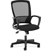 basyx® by HON® Office Chair with Mesh Back - Fabric - High Back - Black
