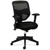 basyx® by HON® BSXVL531MM10 HVL531 Series Adjustable Arm Executive Chair Black Mesh