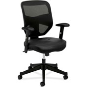 basyx® by HON® Executive Chair with Mesh Back - Leather - High Back - Black