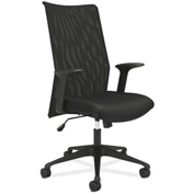 basyx® by HON® BSXVL573VB10 HVL570 Series Fixed Arm High-Back Task Chair Black Mesh