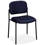 basyx® by HON® Stacking Armless Guest Chair - Fabric - Navy